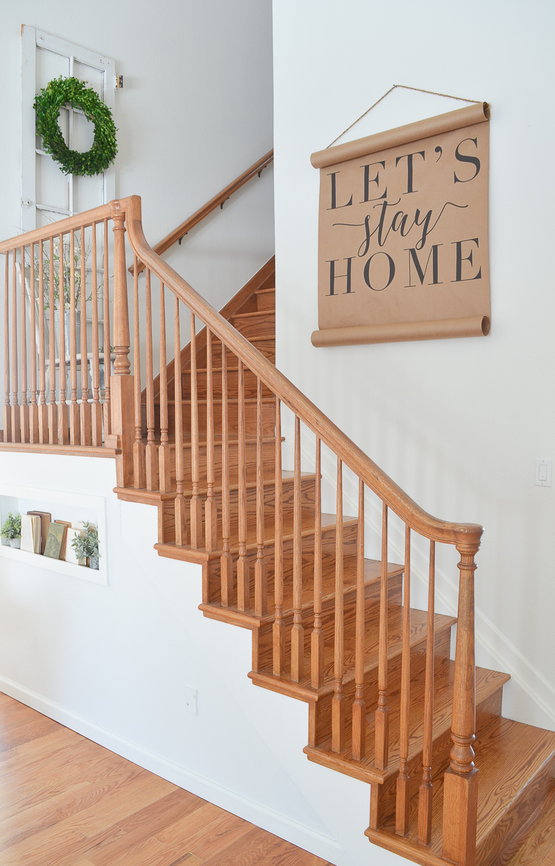 Farmhouse Style Staircase And White Paint Farmhouse Style Staircase And  White Paint