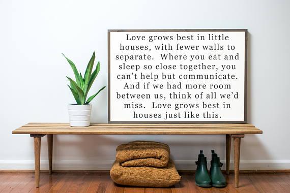 love grows best farmhouse style sign