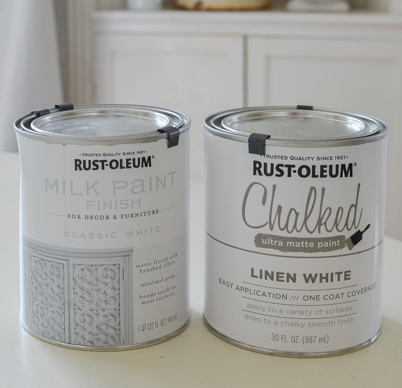 Rust Oleum Milk Paint Finish Vs Chalked