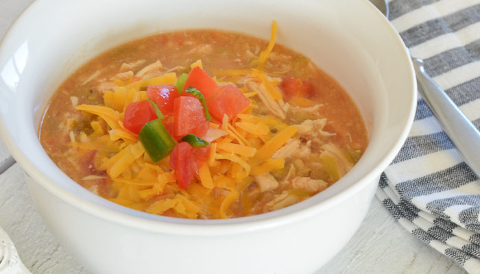 The Easiest Crock Pot Chicken Green Chili