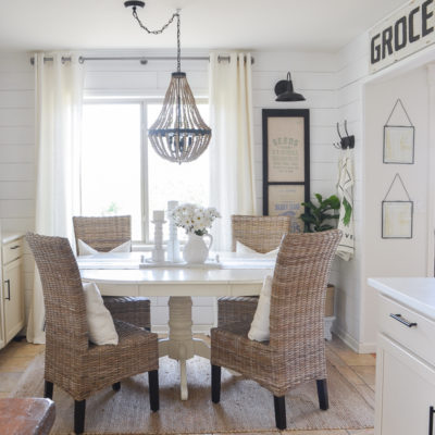 Adding Warmth to the Breakfast Nook