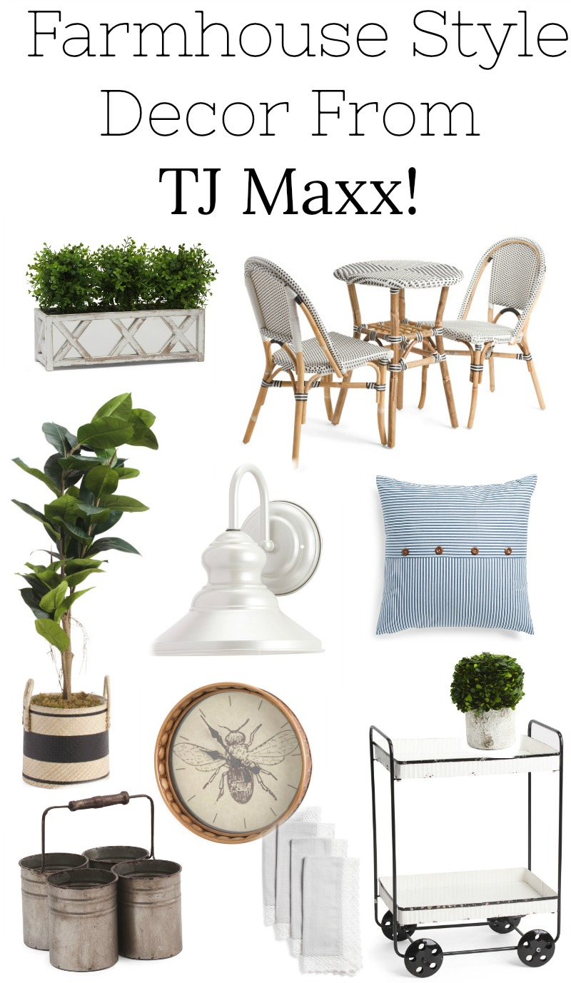 Farmhouse style decor and furniture from TJ Maxx!