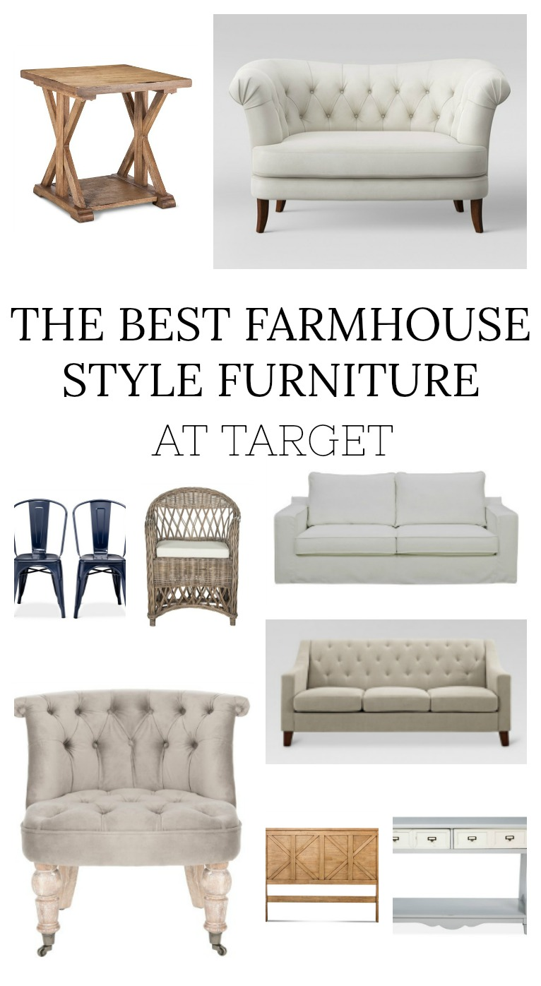 The best farmhouse style furniture from Target. Amazing affordable farmhouse finds!