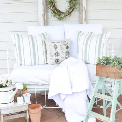 A Cozy Vintage Crib on the Back Patio