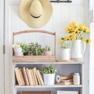 New Farmhouse Cabinet in the Entryway
