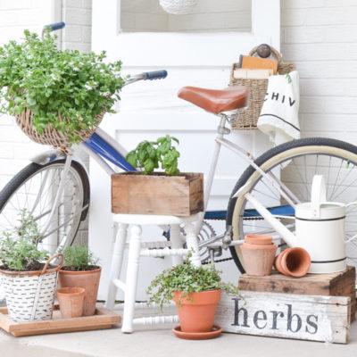 A Farmhouse Style Summer Porch