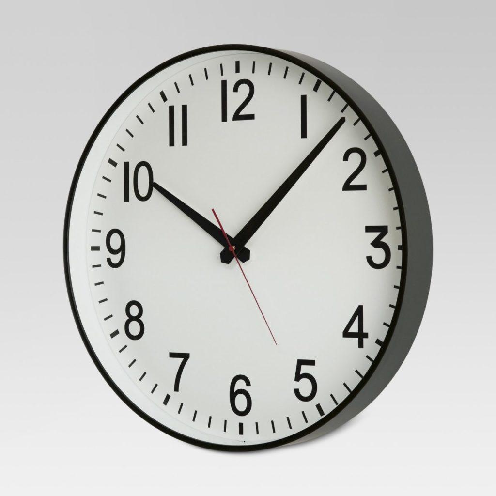farmhouse style school house clock