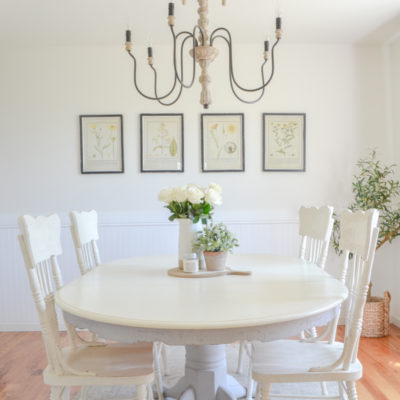 Botanical Prints + A Simple Dining Room