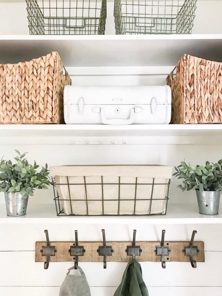 Farmhouse style mudroom
