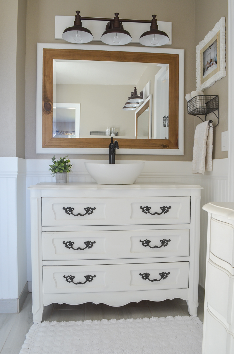 Farmhouse Style Master Bathroom Refresh Little Vintage Nest