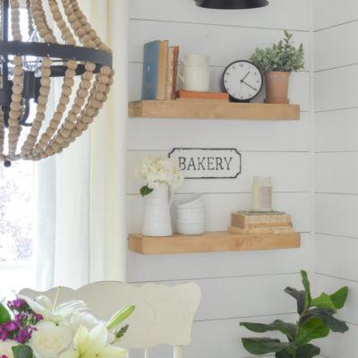 Farmhouse Style Floating Shelves