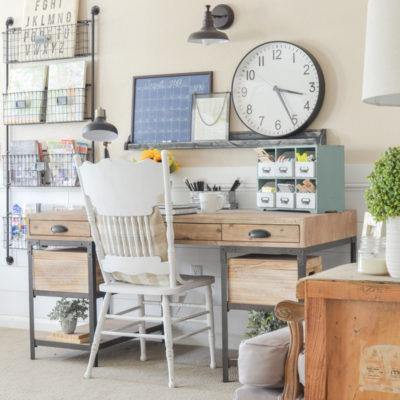 An Organized Desk for Fall