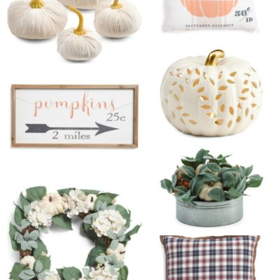Affordable Fall Decor From TJ Maxx