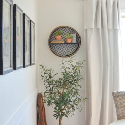 DIY Wall Shelf from a Vintage Grain Sifter