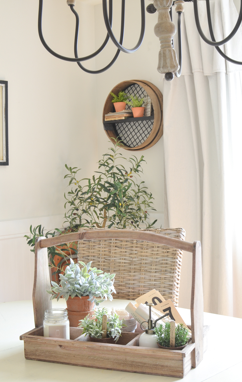 DIY Wall Shelf from a Vintage Grain Sifter. A simple farmhouse style DIY project using a large vintage grain sifter.