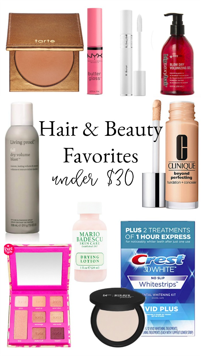 Hair and Beauty Favorites Under $30