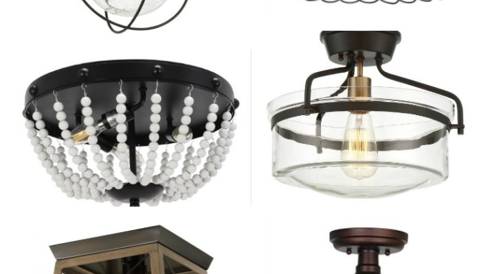 Farmhouse Style Flush Mount Lighting